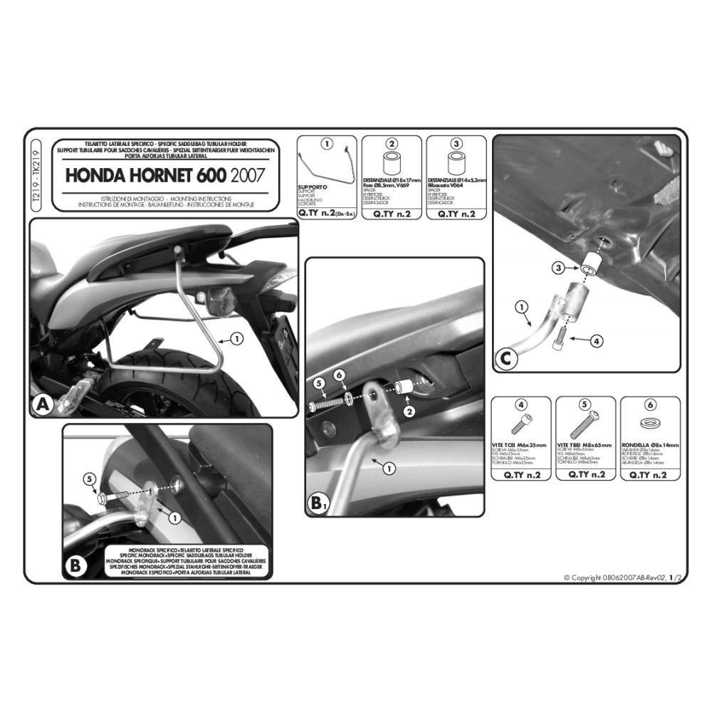 Givi T214/sella separatore